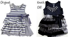 IKKS Striped Sundress Knockoff by Jessica of Me Sew Crazy - Melly Sews