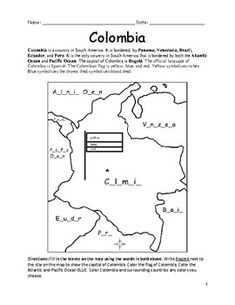 BELIZE - Printable handout with map and flag | Central ...