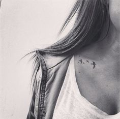 micro tattoos neck bird - Google Search