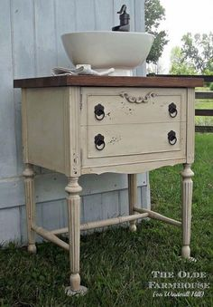 Gorgeous {Sewing Cabinet} into {Kitchen Sink} Repurpose!