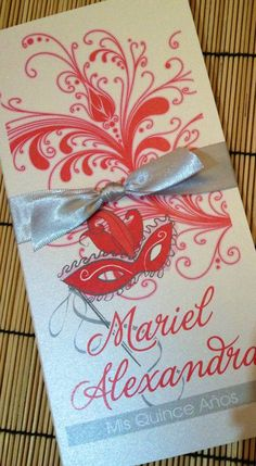 Sweet Sixteen masquerade invitation  Quinceanera by anaderoux, $3.50