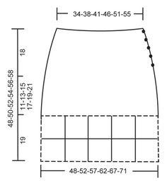 """DROPS 115-43 - Falda a ganchillo DROPS en """"Karisma"""" con patrón de cuadrados en la parte inferior. Talla XS-XXL. - Free pattern by DROPS Design"""