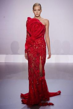 2015 Luxury Red Split Sheath One-shoulder Lace Evening Dresses One-sleeve Evening Dresses Prom/party Dresses DHL/UPS from Gonewithwind,$418.85   DHgate.com