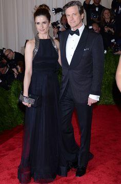 #ColinFirth y #LiviaGiuggioli su mujer, de riguroso negro.