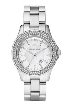 """Michael Kors """"Small Madison"""" Twin Row Crystal Watch. This will be mine."""