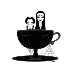 An Wednesday & Morticia Addams Art Edit. Morticia Adams, Gomez And Morticia, Audrey Horn, Rockabilly, Ashley Taylor, Adams Family, Wednesday Addams, Manicure At Home, Tatoo