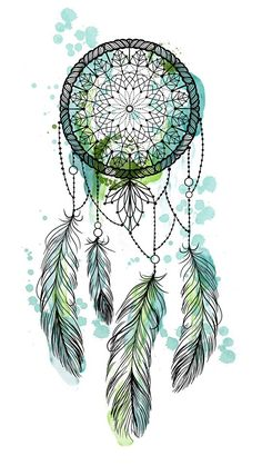 Mary Ink Tattoo Dream Catcher Drawing, Dream Catcher Tattoo Design, Wallpaper Backgrounds, Iphone Wallpaper, Dreamcatcher Wallpaper, Feather Wallpaper, Capas Samsung, Hippie Art, Poster S