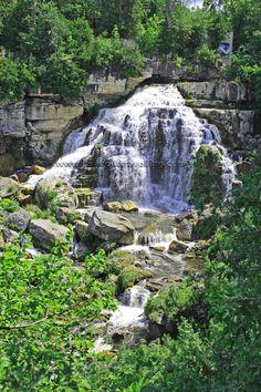 Inglis Falls on the Sydenham River near Owen Sound, Ontario, Canada.
