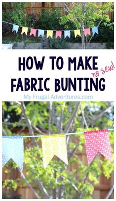 Easy no sew fabric bunting tutorial- perfect way to use scrap fabric or fat quarters!