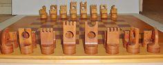 Danish modern chess set on eBay.