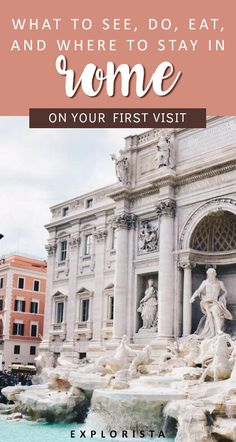 There are so many things to see and do in Rome, Italy! Here's our guide to your first visit from what to do, where to stay, and more! #rome #italy