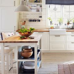 Bring a farmhouse feel to your kitchen with the #IKEA STENSTORP kitchen island. Link in bio to shop!