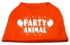 Mirage cat Products Party Animal Screen Print Shirt Orange Med (12) -- For more information, visit now : Cat Apparel
