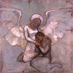 Angel Comforting by J. Kirk Richards