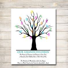 Grandparents Day Gift | Grandkids Thumbprint Art – TidyLady Printables Grandparents Day Poem, Grandparent Gifts, Teacher Retirement Gifts, Gift For Retiring Teacher, Thumbprint Tree, Teacher Appreciation Week, Appreciation Cards, Personalized Teacher Gifts, Handprint Art