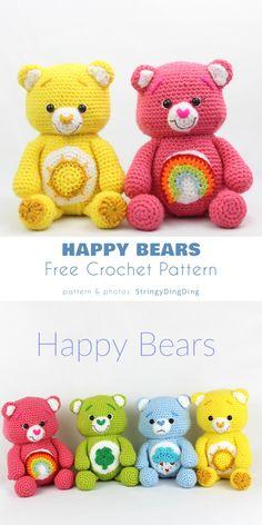 Teddy Bear Patterns Free, Crochet Bear Patterns, Disney Crochet Patterns, Crochet Teddy Bears, Diy Teddy Bear, Crochet Pillow Patterns Free, Crochet Animal Amigurumi, Crocheting Patterns, Amigurumi Doll