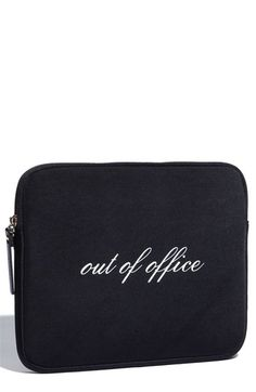 """Kate Spade """"Out of Office"""" iPad sleeve"""