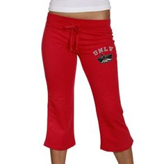 UNLV Rebels Ladies Scarlet Frost Slub Capri Sweatpants #fanatics