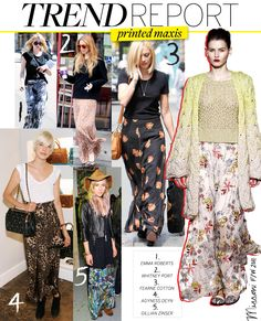 Trend Report: Printed Maxis - Celebrity Style and Fashion from WhoWhatWear
