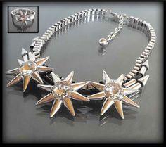Oryginalny komplet biżuterii z gwiazdami dla Gwiazd: naszyjnik i bransoletka | BIŻUTERIA \ Komplety ZESTAWY \ Biżuteria | Evangarda.pl