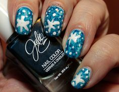Confessions of a Sarcastic Mom: Magnificent Monday Manis - swirls of holiday color!