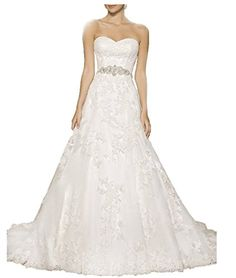 Vickyben Strapless a Line Wedding Dress 2015 Long Sleeveless Bridal Gown *** LEARN MORE @ http://www.eveningdressesoutlet.com/store/vickyben-strapless-a-line-wedding-dress-2015-long-sleeveless-bridal-gown/?a=7557