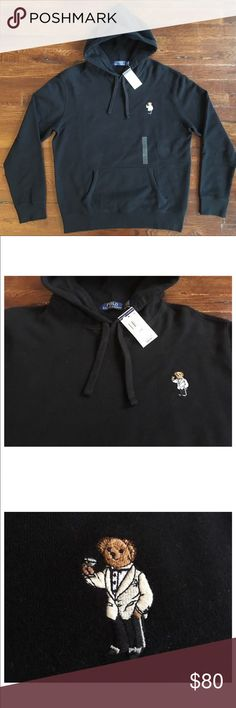 """Men's polo Ralph Lauren Teddy Bear Hoodie Brand new with tags ships in 24 hours M Length: 26.5"""" Pit-to-Pit: 22  Extra-large Length: 28.5"""" Pit-to-Pit: 26"""" Polo by Ralph Lauren Shirts Sweatshirts & Hoodies"""