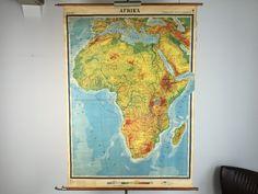 Wandkaarten van Afrika, 175 euro