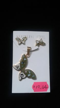 Acero inoxidable mariposa