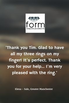 Form Bespoke Jewellers #recommendedjewellers #awardwinning #Leeds #Yorkshire #bespokejewellery #handmadejewellery #engagementring #solitaire www.formjewellery.com Bespoke Jewellery, Leeds, Yorkshire, Sayings, Lyrics, Yorkshire Terrier Puppies, Quotations, Idioms, Quote