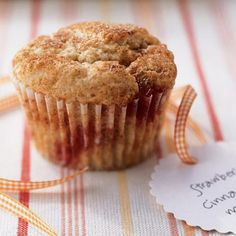 Low-Fat Strawberry-Cinnamon Muffins Recipe. Not all muffins have to be high in calories and fat. Using fat-free milk and yogurt will spare you the fat and let you indulge in a breakfast pastry!