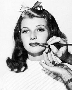 Rita Hayworth - 40's makeup