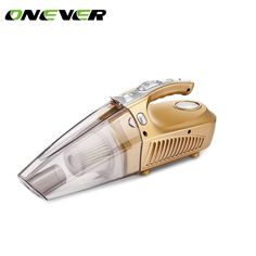 Onever 4 in 1 Multi-function Car Vacuum Cleaner & Tire Inflator & Tire Pressure Gauge & LED Light 120W Handheld Vacuum