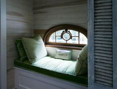 Love window nooks, this site has a bunch of ideas for different areas