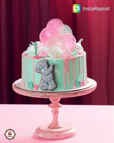 Baby Cake. .....Teddy Bear with Balloons