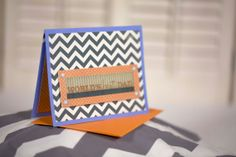 orange and blue chevron homemade father's day by cassandra7creates, $4.00