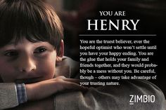 I took Zimbio's 'Once Upon a Time' quiz and I'm Henry. Hmm, I was actually expecting Regina or Emma...