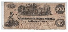 1862 $100 DOLLAR BILL CONFEDERATE STATES CURRENCY CIVIL WAR MONEY C NOTE T-39 - http://coins.goshoppins.com/us-paper-money/1862-100-dollar-bill-confederate-states-currency-civil-war-money-c-note-t-39/