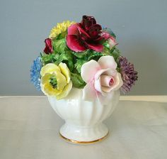 Radnor Bone China Flower Bouquet Hall Bros. by ChocolateRoseMint,