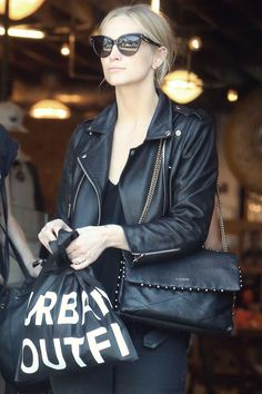 Ashlee Simpson shopping in West Hollywood