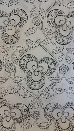 Line Patterns, Textile Patterns, Textile Design, Embroidery Patterns, Floral Design, Paint Designs, Designs To Draw, Pattern Art, Pattern Design