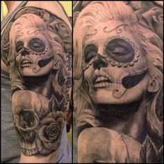 44 Day of the Dead Tattoos Gallery! Day of the Dead Tattoos are originating from a holiday (Dia de los Muertos) that falls at the end of October, overlapping with Halloween, and ends on... #‎inkdoneright ‪#‎tattoo‬ ‪#‎tattoos‬ ‪#‎inked‬ ‪#‎art‬ ‪#‎inkedgirls‬ ‪#‎tattooed #‎tattooedgirls‬