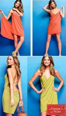 ¡¡¡PREPÁRATE PARA S.JUAN!!!  Hazte un #vestido de #rizo, muy sencillo y rápido de hacer, sólo necesitas un rectángulo de tela de rizo 11,99€/m (ancho 1,50mts), y dos tiras que formarán las tirantas.  Fuente de la imagen: ropaaccesorios.com