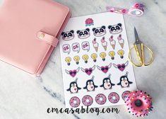 Free Printable Planner Stickers | Em Casa Blog