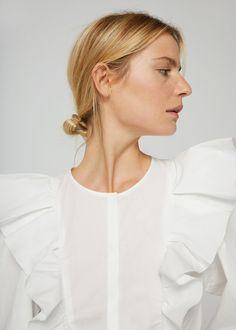 Ruffled cotton body -  Women | MANGO USA