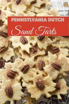 Pennsylvania Dutch Sand Tarts, an Amish Christmas Cookie