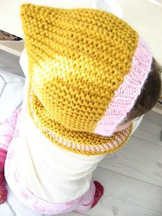 cool kid hodded hat from pickles  Pattern: http://www.pickles.no/cool-kid-hooded-hat/
