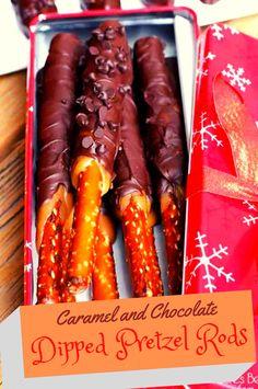 caramel and chocolate dipped pretzel - Easy Recipes - Dinner Recipes Pretzel Recipes, Appetizer Recipes, Snack Recipes, Cooking Recipes, Healthy Recipes, Easy Recipes, Dinner Recipes, Appetizers, Christmas Snacks