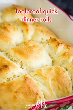 Foolproof Quick Dinner Rolls are soft, fluffy, buttery, and quick! They're perfect on your dinner table for holidays, potlucks, or weeknights. #bread #dough #quickbread #yeast #quickrolls #easy #30minuterecipe #roll #bun #side #easyrecipe