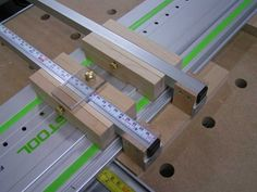 crosscut jig on festool rail, similar to INCRA product